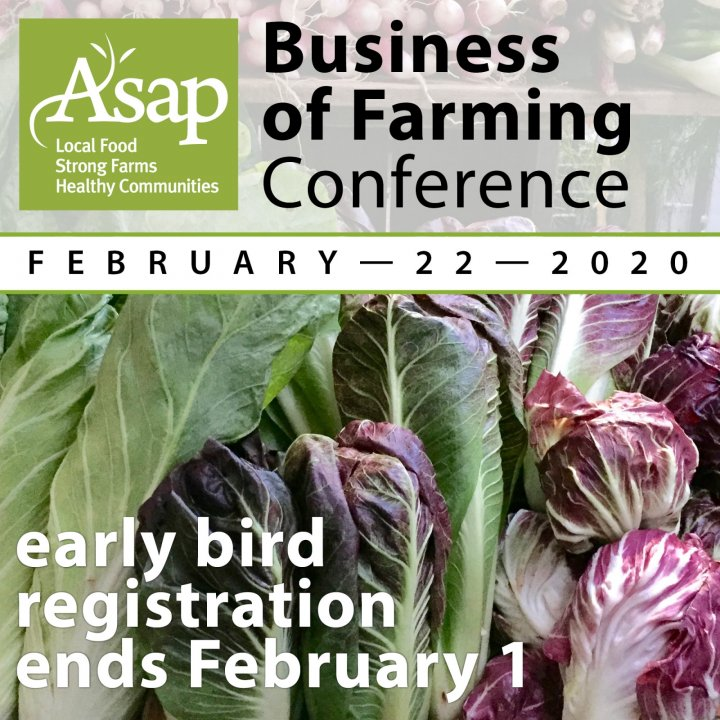 Early-bird registration for the Business of Farming Conference ends Feb. 1