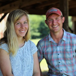 Nicole and Aaron Bradley of Colfax Creek Farm; photo by Bright Planning