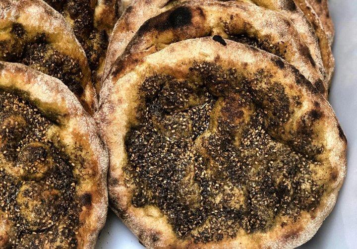 man'oushe flatbread from Hominy Farm