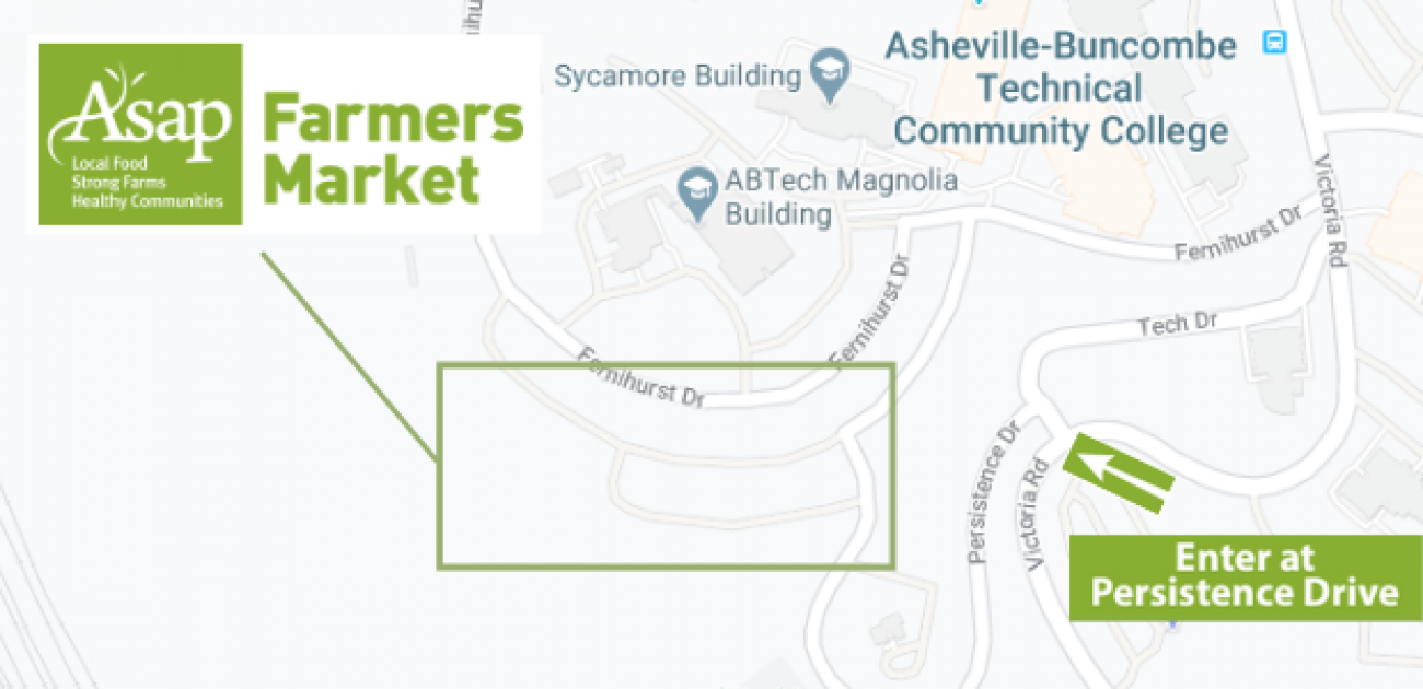 ASAP Farmers Market location map